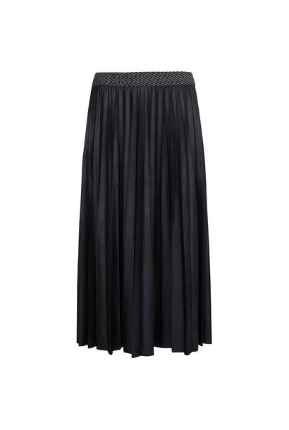 Plooi rok zwart