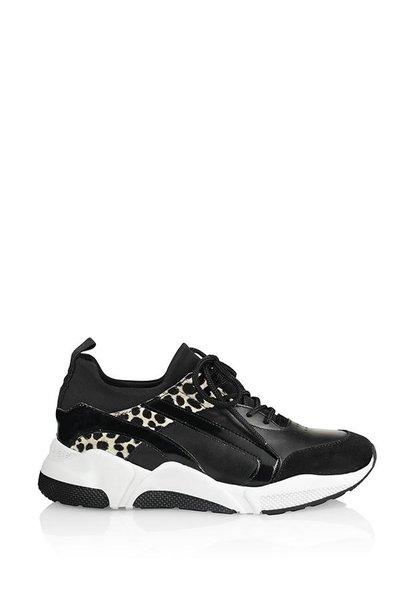 Sneaker zwart/cheeta