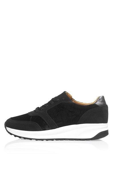 Suède sneaker zwart