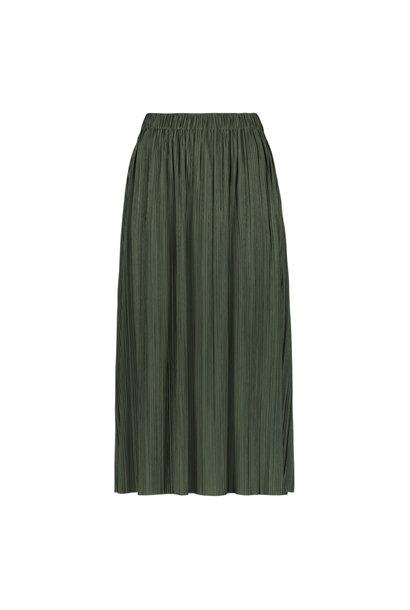 Plisse rok groen