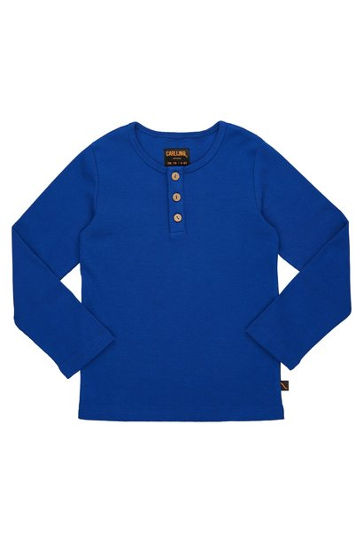 Shirt met knopen blauw