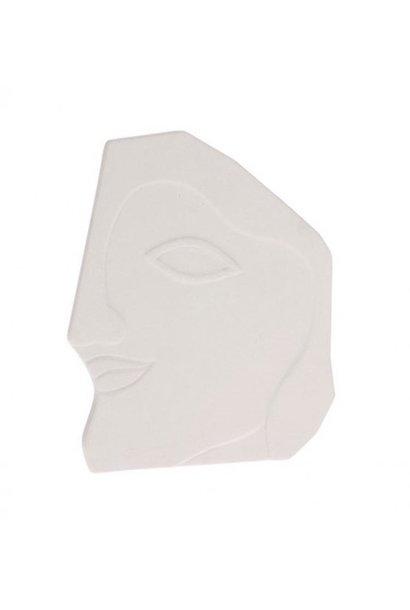 Ornament gezicht wit