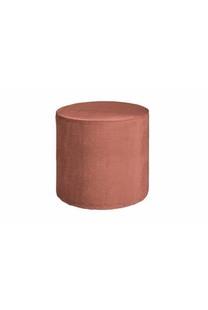 roze poef hoog 46xø46