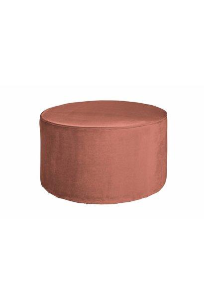 roze poef laag 36xø60