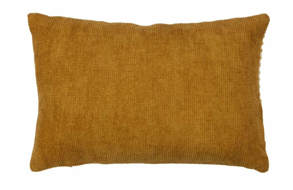 kussen ivoor/mosterd 40x60 cm-2