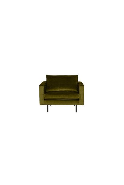 fauteuil velvet olive
