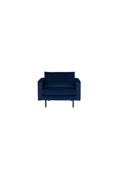 fauteuil velvet night blue