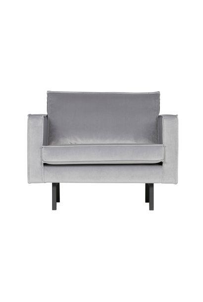 Fauteuil velvet licht grijs