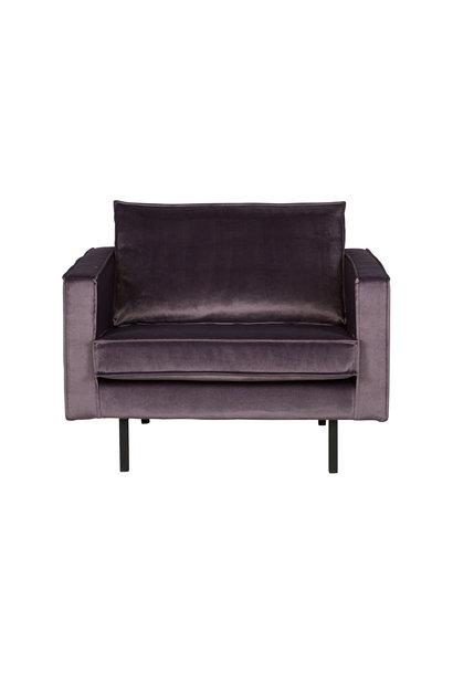 fauteuil velvet donker grijs