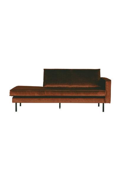 Velvet chaise longue rechts roest