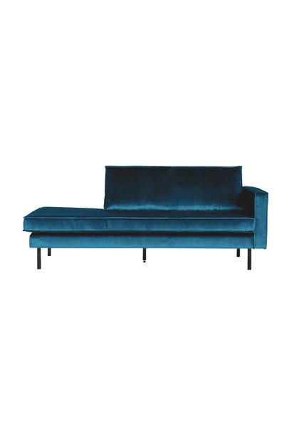 Velvet chaise longue rechts blue