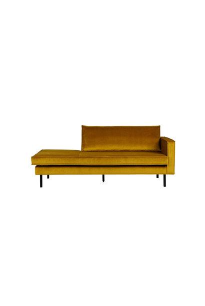 Velvet chaise longue rechts oker