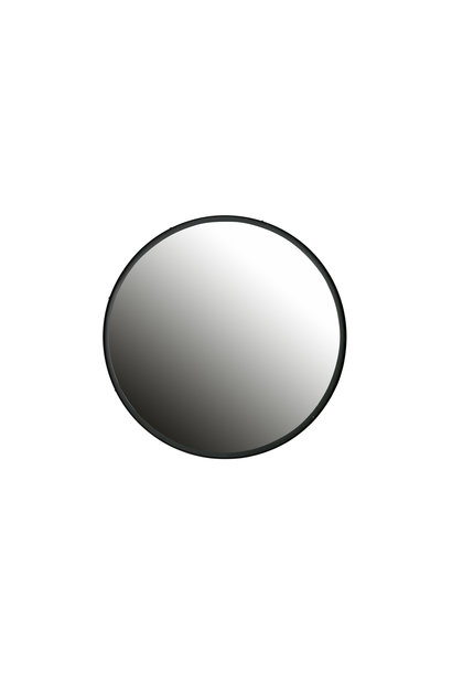 Spiegel metaal xl zwart ø80cm