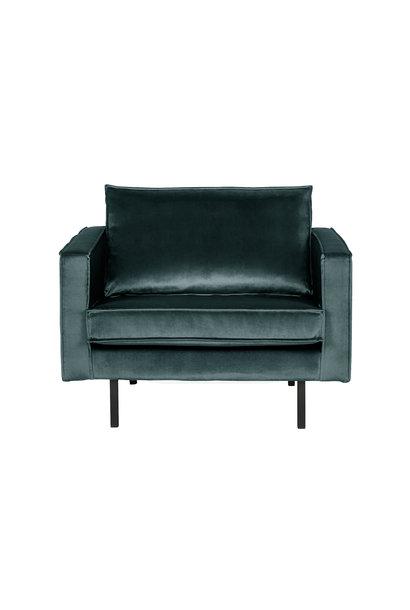 Velvet fauteuil teal