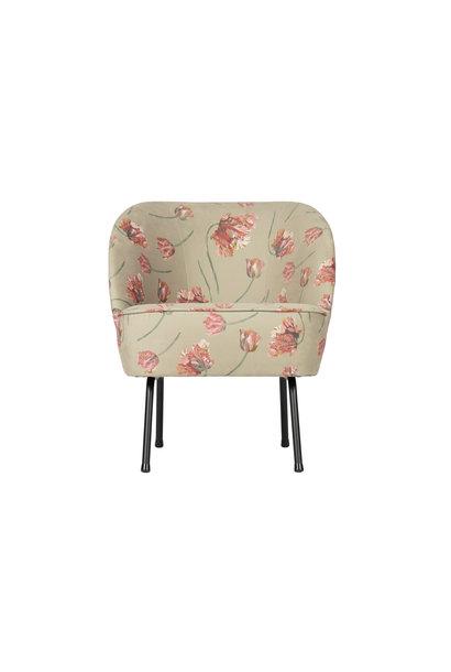 Fluweel fauteuil bloemen