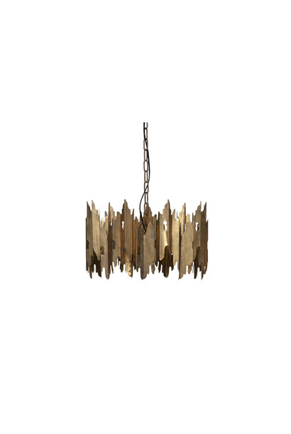 Hanglamp antique brass