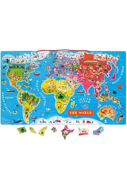 Magnetisch wereldkaart