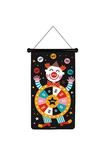 Magnetisch dartsspel clown