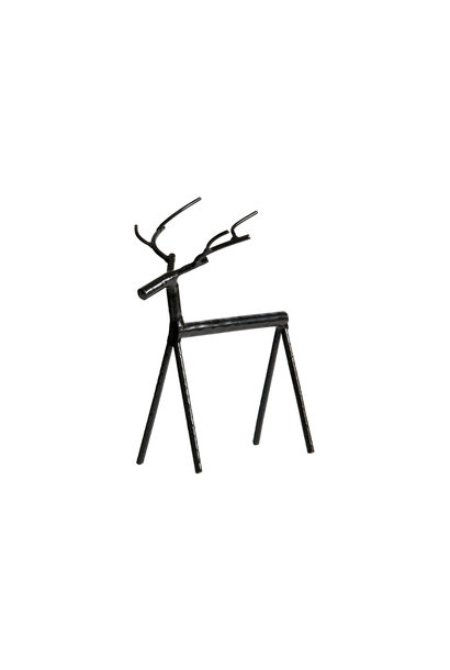 rudolph metal deer XL zwart