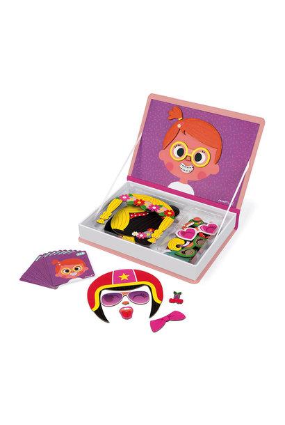 Magneet boek gekke gezichten meisjes