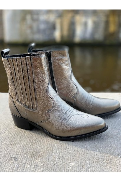 Cowboy boot zilver