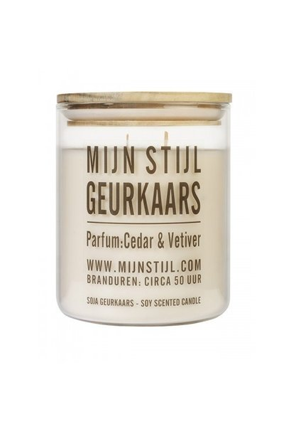 Geurkaars cedar&vetiver