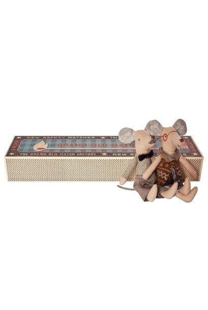Muizen, opa en oma in matchbox