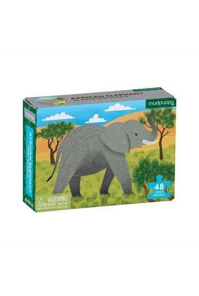 Mini puzzel african elephant