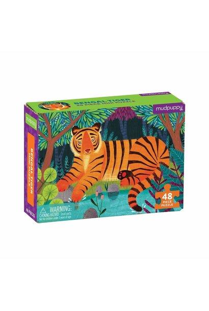 Mini puzzel bengal tiger