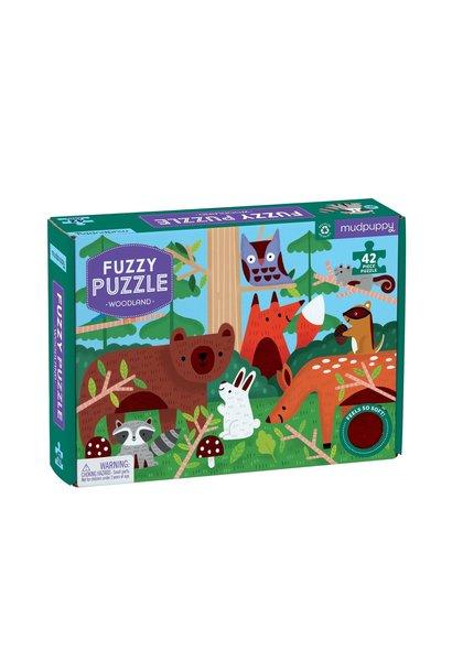 Fuzzy puzzel woodland
