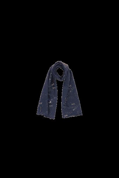 Long scarf fleece blauw