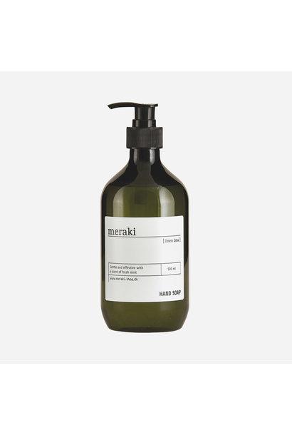 hand soap, linen dew