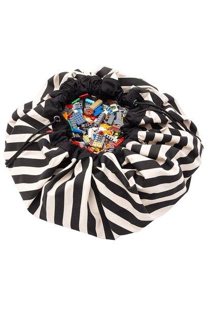 Storage bag & playmat stripes black