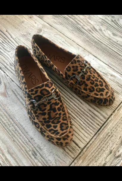 Moccasins, suède leopard