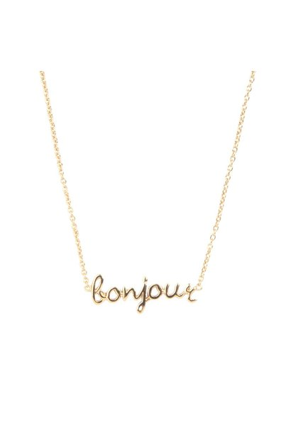 Urban necklace bonjour gold