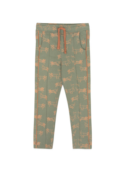 Trackpants met piping insectenprint