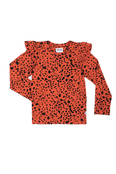 Spotted animal top