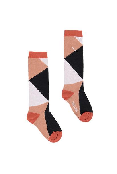 Knee socks color blocks