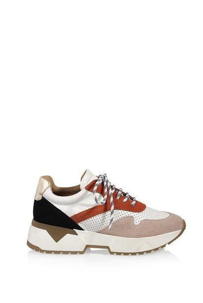 Sneaker wit/roest/roze