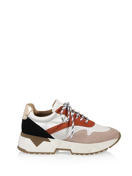 Sneaker wit/roest/roze-1
