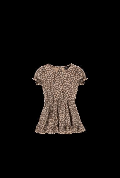 Frill dress leopard