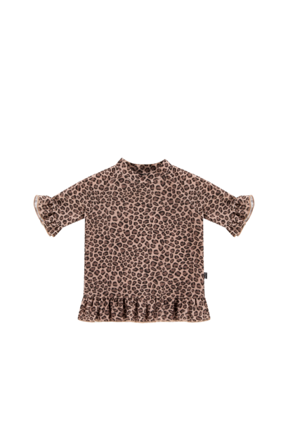 Frill uv top leopard
