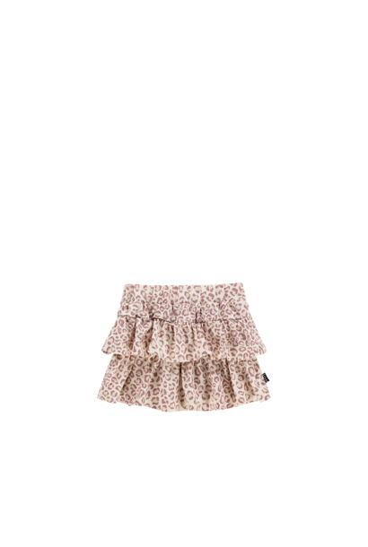 Ruffled skirt leopard