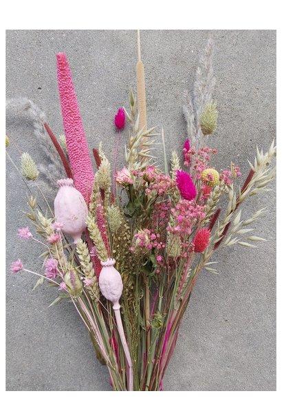 Droogbloemen roze