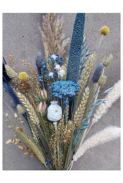 Droogbloemen blauw