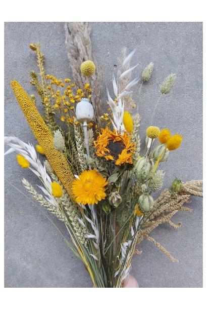 Droogbloemen geel