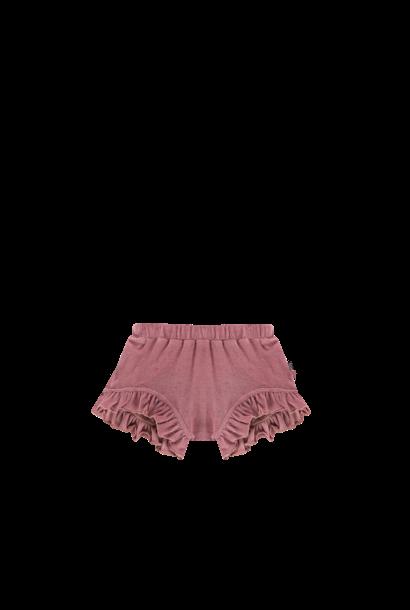 Ruffled shorts roze
