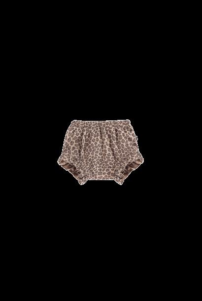 Ruffled shorts leopard