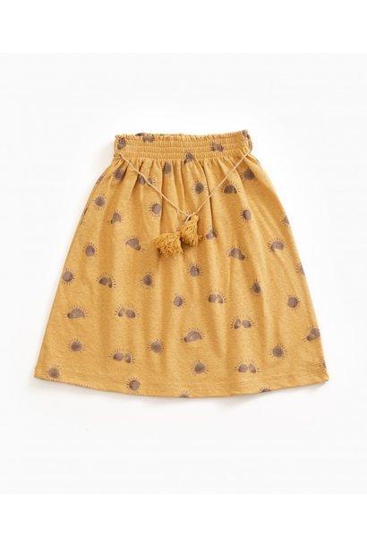 Printed jersey skirt
