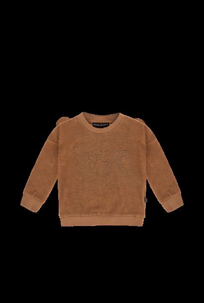 Crewneck sweater toffee